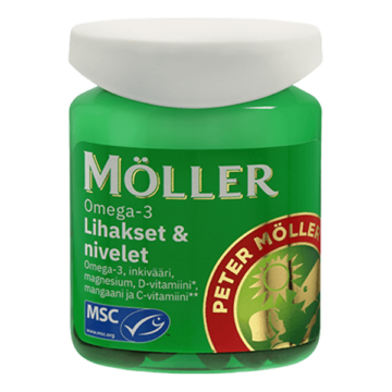Möller omega-3 lihaksille ja nivelille